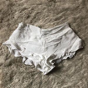 Brandy Melville White Cream Flouncy Shorts